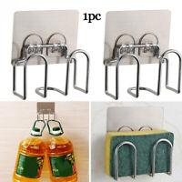 Steel Bathroom Kitchen Gadget Sink Drainer Sponges Holder Soap Storage Rack