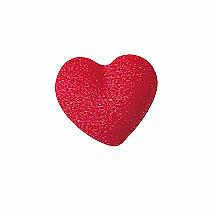 Valentine's Day  Sugar Top Decor - Cute Mini Heart Charm -  Kosher, 36 pk