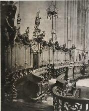 Paul Wolff & Tritschler Vintage Gelatinesilberabzug Mainzer Dom Chorgestühl 40er