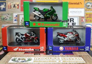 1/32 Scale Sperbike bundle (x3 bikes boxed) Honda, Yamaha & Kawasaki.