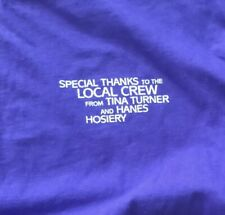 Vintage Tina Turner 1996 Wildest Dreams Local Crew T-Shirt Not Sold At Concerts