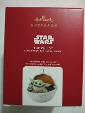 "New Listing2020 Hallmark Star Wars The Mandalorian The Child Christmas Ornament ""Baby Yoda�"