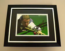 Stephen Hendry Signed 10x8 Photo Framed Autograph Display Snooker Memorabilia