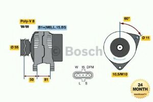 BOSCH REMAN ALTERNATOR UNIT for IVECO Tector 2.6E+30 2012->on