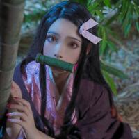 Animer Cosplay Costume Kamado Nezuko Sets Superior Quality Anime Convention XEMR