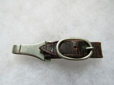 New listing Wwii German brown leather dagger hanger unmarked working spring