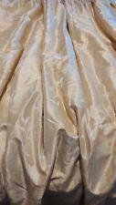 "A Pair Huge Dunelm Faux Dupion Silk Curtains  Size 70"" X 82"" Pleated."