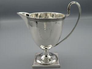 Antique Georgian Solid Silver Cream Jug Lon 1793