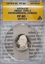 1979-S Type 2 5C Jefferson Nickel PF 60 Details ANACS # 4528579 + Bonus