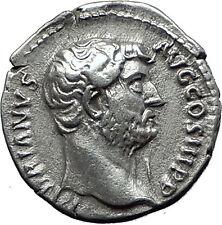 Hadrian  137AD Silver  Rare  Ancient Roman Coin Moneta Funds Protectress i58505