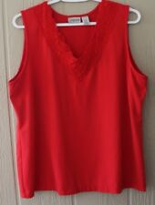 CHICO'S 3 Tank Top Red Lace
