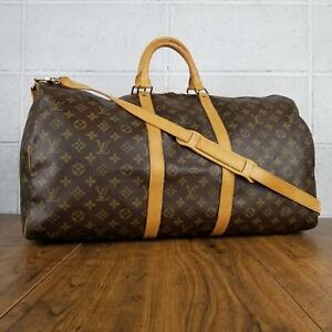 100% Authentic Louis Vuitton Monogram Keepall band Villiers 55 M41414 Us
