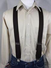 "New, Men's, Brown, XL, 1.5"", Adj.  Suspenders / Braces, Made in the U.S.A."