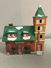 Dickens Collectables Holiday Expressions Porcelain Lighted Fire Station