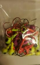 Assorted Colors 1/4 Oz Ring and Barbed Collar Sock Eye Jig Heads Lot of 25