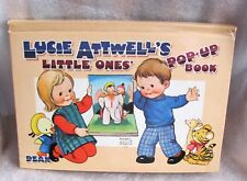 """1966 Lucie Attwell's """"Little One's"""" Thick Glossy Dean & Sons Pop-Up Book Vintage"""