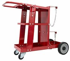 Welding Cart Trolley for welder Plasma Cutter, Arc welder lotos Red