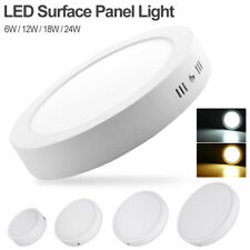 Cool/Warm White Round LED Surface Panel Light Slim Ceiling Lamp 6/12/18/24W 3E6