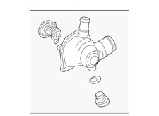 Genuine Audi Thermostat Housing 079-121-115-BG