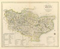 Map of Kent County towns, gentleman houses election poll reform bill c1833