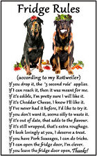 "Rottweiler Dog Gift - Large Fridge Rules flexible Magnet 6"" x 4"""
