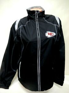"1429 Womens NFL Apparel KANSAS CITY CHIEFS ""Full Zip"" Lite JACKET Black $49.99"