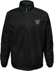 NFL Oakland Raiders Youth Boys Alpha Performance 1/4 Zip Windbreaker Jacket