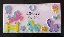 Personalised Handmade Girls Childrens Horse Pony Name Door Room Plaque Sign