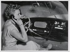 Peter Engels, Autotelefon, Original-Foto um 1955.