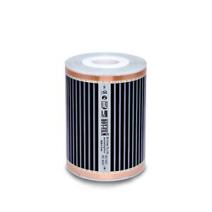 Infrarot Carbon Heizfolie Heizelement Heizfilm 25cm breit 220W/m² 1-4m Länge
