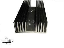 Dissipatore in alluminio per elettronica  120x235x50 mm prefor. con 2 posti T03