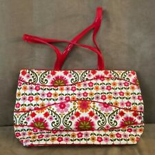 Folkloric Vera Bradley Weekender purse bag shoulder pink grand tote college