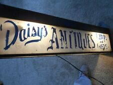 DAISEY'S ANTIQUES-(LAMPS And GIFTS)-LIGHTED STEEL BOX SIGN