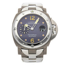Panerai Luminor Submersible Titanium Anthracite Dial Bracelet Watch PAM 106