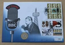 75YEARS OF THE BBC 1997 MERCURY COVER BROADCASTING HOUSE LONDON H/S + £2 COIN