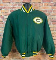 Vintage Starter Green Bay Packers NFL Football Satin Snap Jacket Mens Sz Medium