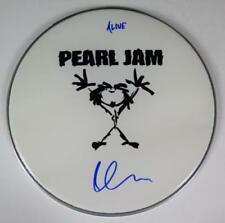 "Dave Krusen PEARL JAM Signed Autograph 13"" Drum Head Drumhead w/ Lyrics"