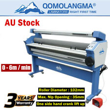 AU Stock QOMOLANGMA 63in Full-auto Wide Format Cold Laminator With Heat Assisted