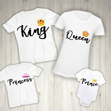 Matching Family T-Shirts -Personalised King Queen Prince Princess Christmas Gift