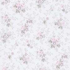 Petite Fleur rápidamente Wallpaper III 285030 Flores Rosas Blanco Rosa Beige