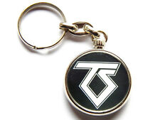 More details for twisted sister heavy metal band chrome keyring picture both sides