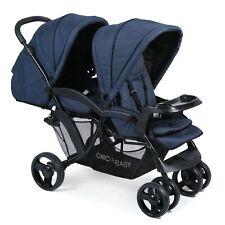 Chic 4 Baby Geschwisterwagen  Doppio Jeans navy blue TOP