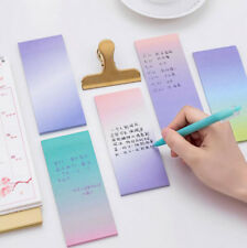 1Sheet Gradient Sticker Post It Guestbook Bookmark Memo Pads Index Sticky Notes