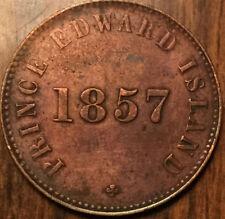 1857 PEI HALFPENNY TOKEN - Medal die axis - Cleaned