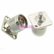 1pce Adapter Connector N male plug to SMA female jack Flange for WIFI antenna
