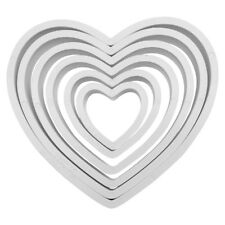 PME 6pk HEART Plastic Cut Out Icing Fondant Cutters Sugarcraft Cake Decoration