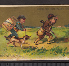 circa 1885 LIEBIG S 0111 Hunter Dog English Language American Antique Trade Card