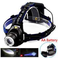 T6 Headlamp AA Battery head frontal led Torch Lamp flashlight camping powerful