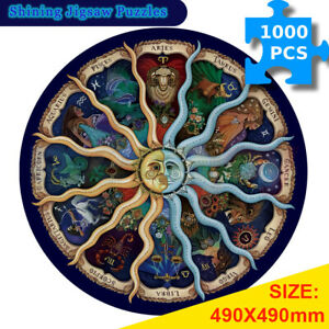 1000PCS Shining Round Jigsaw Puzzle Educational Astrology Adult Kids Home Decor
