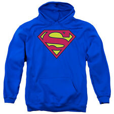 Superman Classic Logo Licensed Hoodie Hooded Sweatshirt Adult Sizes S-2XL